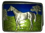 HORSE (standing) BELT BUCKLE + display stand